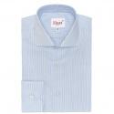 Extra-Slim Blue Shirt with Green Stripe