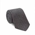 Cravate Pied de Poule Gris et Bleu