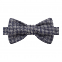 Blue and Grey Hound\'s Tooth Bow Tie