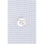 Chemise extra-ajustée à petits carreaux bleus