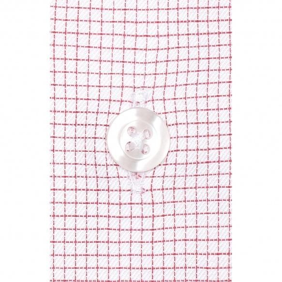Chemise extra-ajustée à petits carreaux rouges