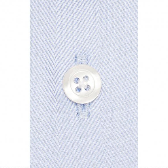 Chemise chevron bleu à col français