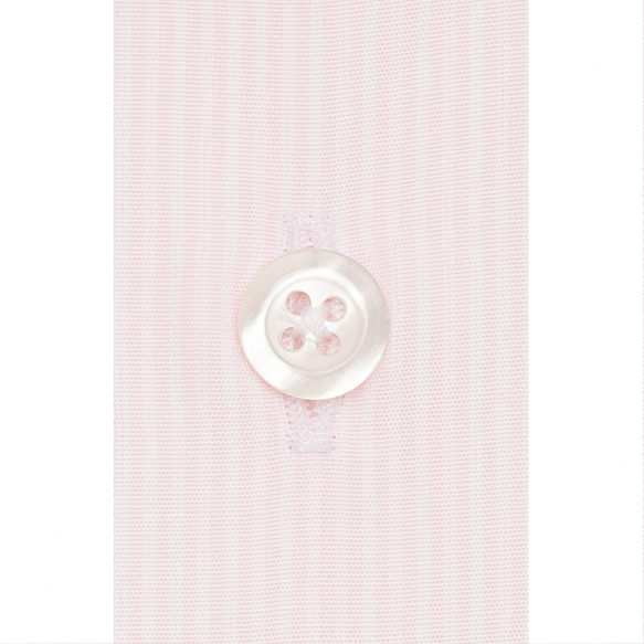 Pink small stripe shirt with french collar