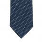 Cravate bleu marine à petits pois
