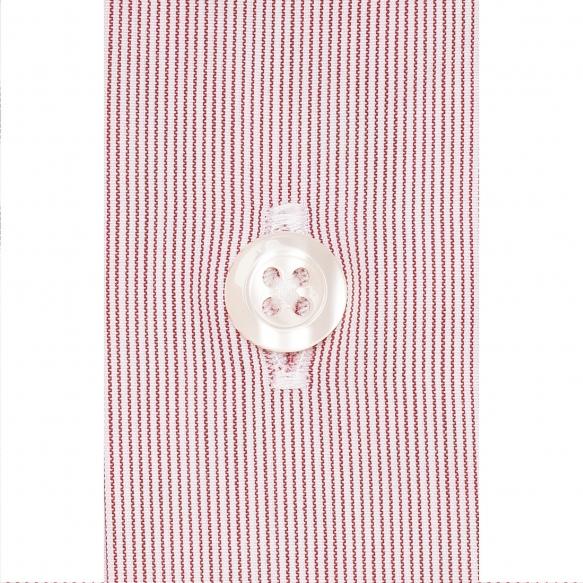 Chemise extra-ajustée faux unis rayée rouge à col français