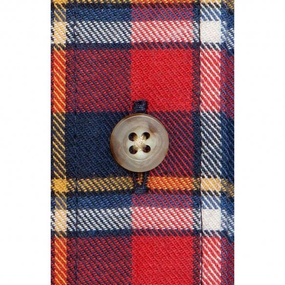 Red tartan flannel shirt