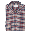 Beige tartan flannel shirt