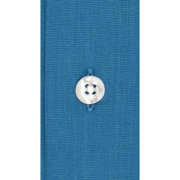 Chemise extra-ajustée bleu pétrole à col français