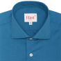 Extra-slim petrol blue shirt with french collar