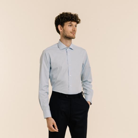 Blue linen and cotton blazer