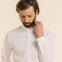 Classic fit white shirt with french cuffs