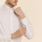 Classic fit white twill shirt