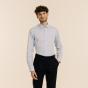 Chemise cintrée en fil-à-fil bleu clair
