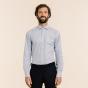 Slim fit blue checks twill shirt