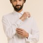 Extra-slim double cuff white shirt