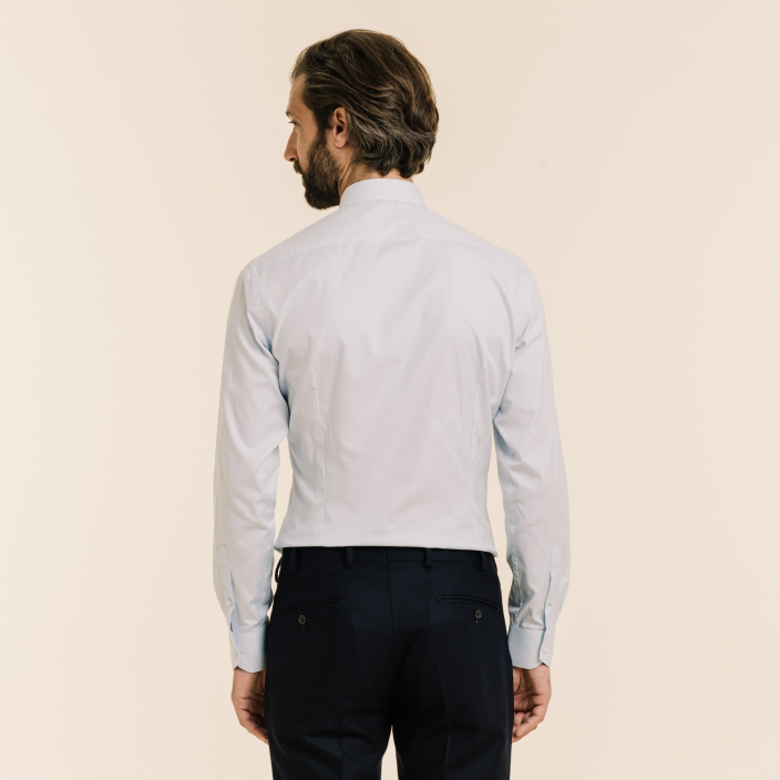 Extra-Slim Light Blue Shirt With French Collar