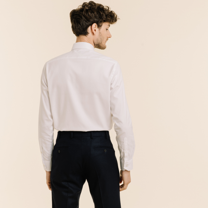 Premium classic fit twill white shirt