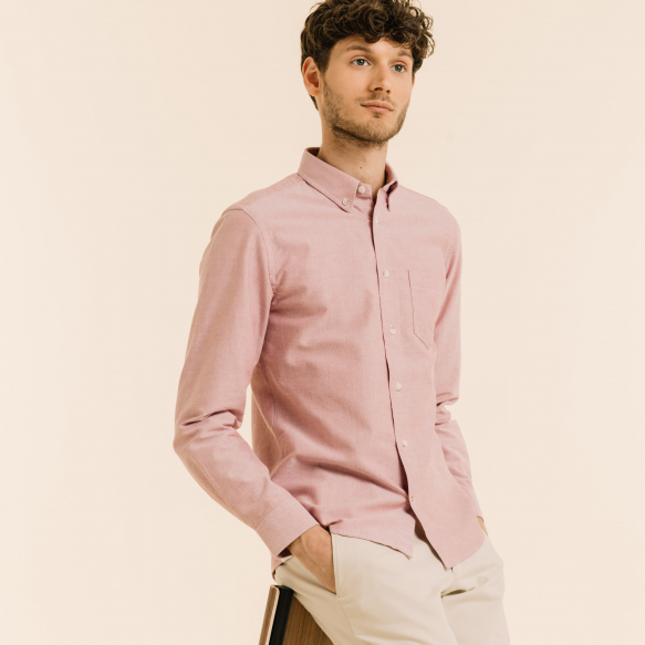 Burgundy Casual Shirt