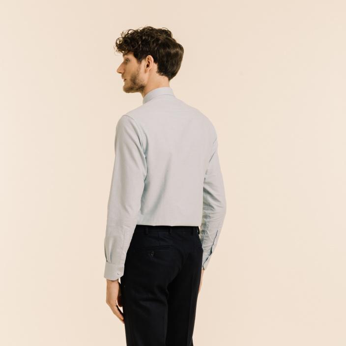Blue-grey oxford shirt
