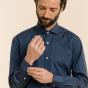 Classic fit night blue fil-à-fil shirt
