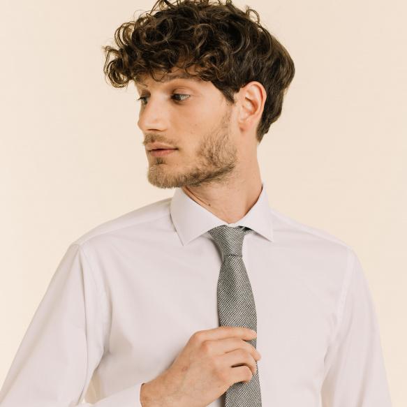 Hound's Tooth Grey Tie
