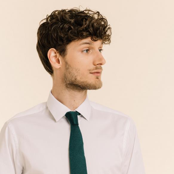 Cravate Verte en Maille de Soie