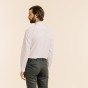 White Shirt with Stand Up Collar
