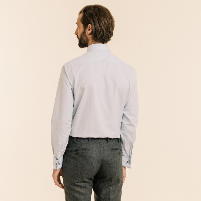 Double Cuff Light-Blue Shirt