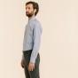 Classic fit blue gingham poplin shirt