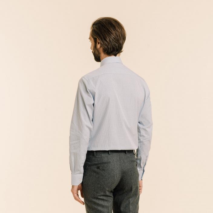 Dark-Blue Check Shirt