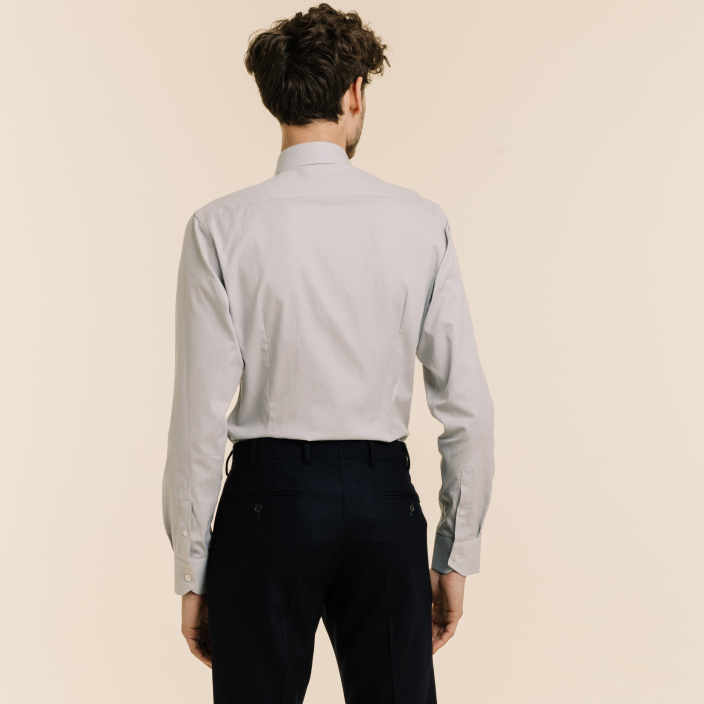 Extra-Slim Plain Grey Shirt