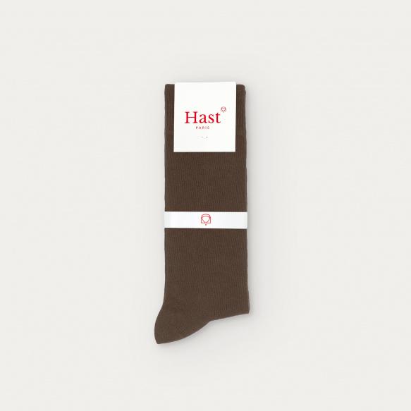 Semainier de chaussettes marron