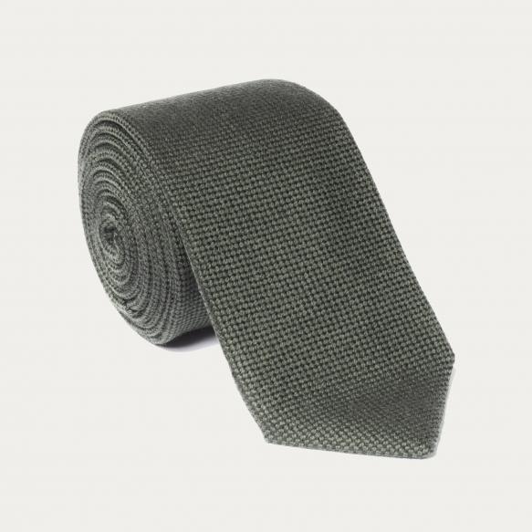 Cravate vert kaki en laine