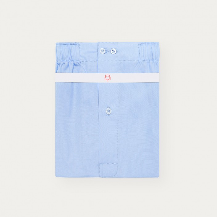 Blue Semi Plain Stripe upcycled Boxer