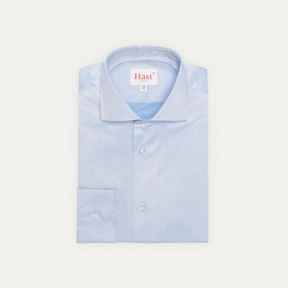 Extra-Slim Plain Blue Shirt