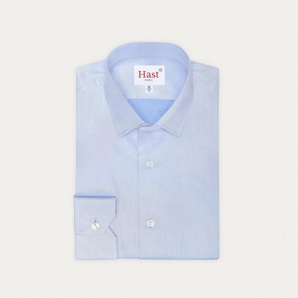 Extra-Slim Plain Blue Shirt...