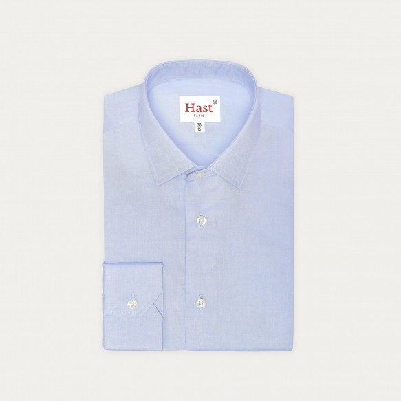 Blue Shirt With French Collar