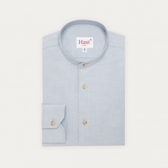 Stand up collar blue-grey...