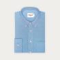 Chemise décontractée en oxford bleue