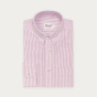 Relaxed fit red stripes oxford shirt