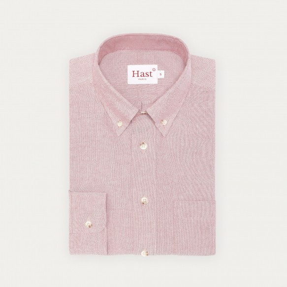 Relaxed fit burgundy oxford...