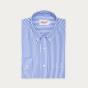 Relaxed fit blue stripes poplin shirt