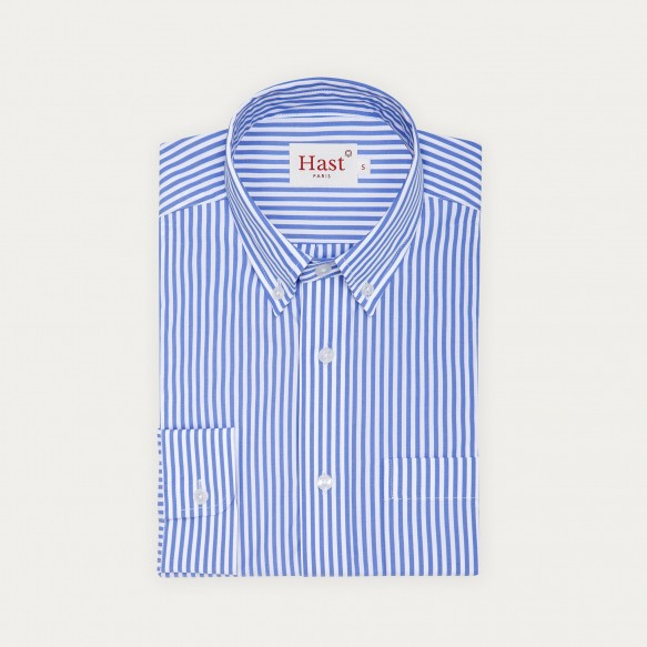 Relaxed fit blue stripes...