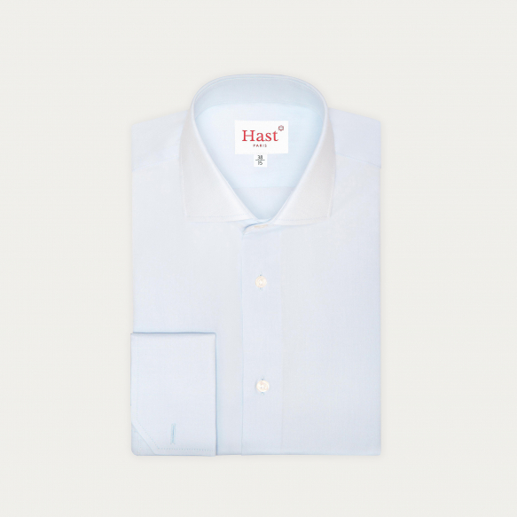 Double Cuff Light-Blue Shirt