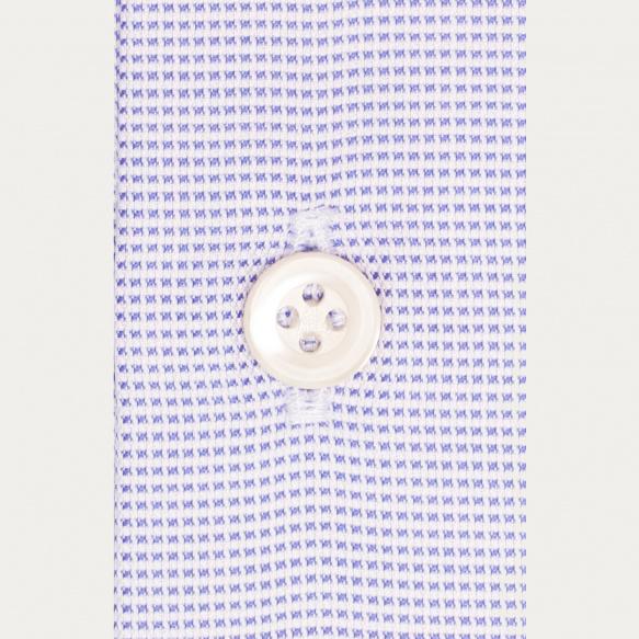 Chemise premium classique en oxford pied-de-puce bleue
