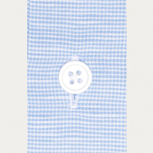 Blue pied-de-puce shirt