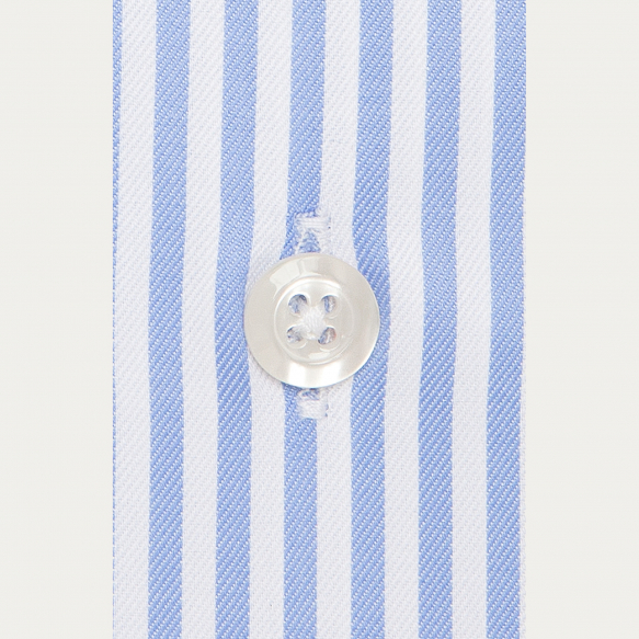 Slim fit blue stripes twill...