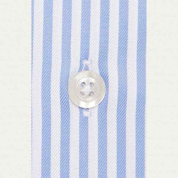 Slim fit blue stripes twill...