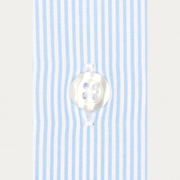 Slim fit small blue stripes...
