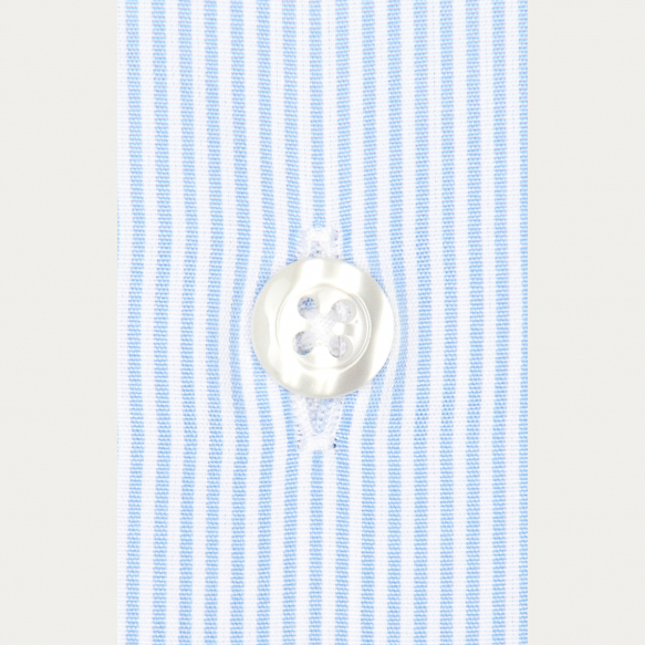 Slim fit small blue stripes...